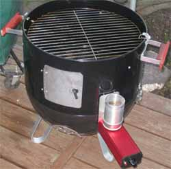 Convert Any Barbeque trill into a smoker with The SmokePistol