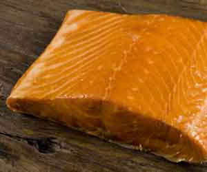Melt in your mouth, hot smoked, delicious maple smoked salmon!