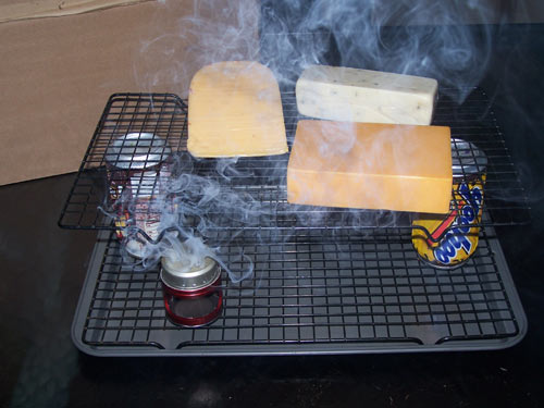 Picture of cold smoking cheese